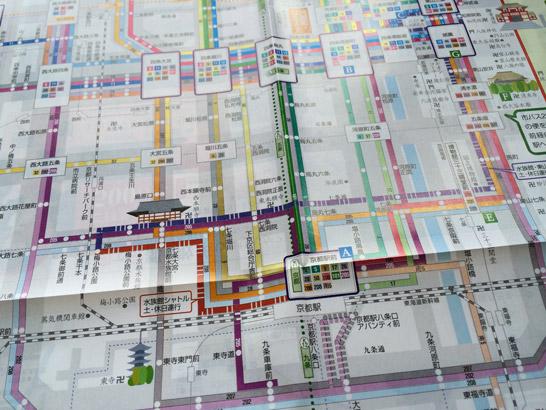 京都 バス路線図 / 市バス観光マップ バスなび